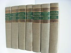 (Library wines) Green Vintage Book Collection Gold Details by LonestarVintageFinds, $35.00
