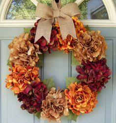 Thanksgiving DIY Wreath & other Thanksgiving decorating ideas Thanksgiving Diy, Diy Thanksgiving Decorations, Fall Decorations, Holiday Wreaths, Holiday Decor, Christmas Holiday, Diy Wreath, Wreath Fall, Grapevine Wreath