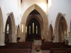 Inside St. Mary's Church in Witney, England