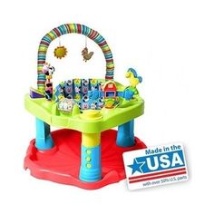 Bouncin ExerSaucer Child Development Baby Fun Activity Learning Center Evenflo #Evenflo