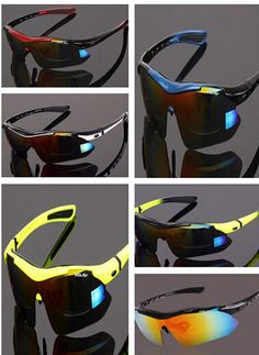 POLISI Cycling Sunglasses Polarized Bicycle Eyewear 5 Lens Outdoor Sport Glasses UV400