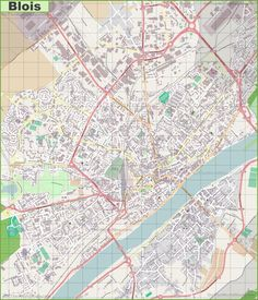 France Main Cities detailed physical map of France with all