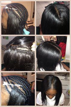 Crochet braids with Kanekalon Hair
