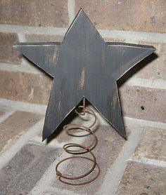 Wood Star On Spring Christmas Tree Topper Bed Spring Crafts