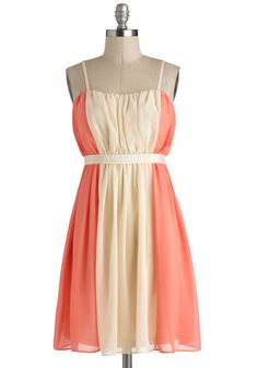 Practice What You Peach Dress, #ModCloth