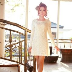 Long Sleeve Dresses, Long Sleeve Mini, Lace, Black, White, Short Dresses For Women With Cheap Wholesale Prices Sale Page 1 - Sammydress.com