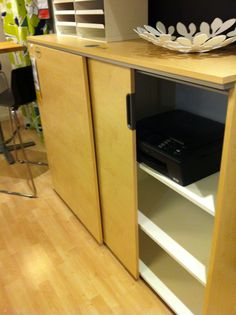 Ikea Galant Cabinet With Drawers   Very Nice Idea For Printers/storage!