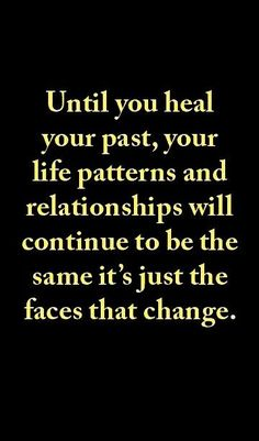 Repair your past. A person with an unrepaired past cannot give unconditional love..he has a need to be loved, not to love unconditioanly, he needs what his past didn't give him..even if it was his childhood