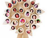 Tree of life: plain - 28 picture frames - birch plywood - family tree - mothers day - wedding - newborn - kids room