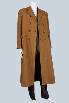 Doctor Who Dr Brown Suede Trench Coat Cosplay Cost...($115.00)