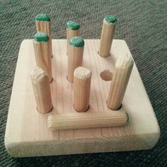 Ristinolla Wooden Crafts, Diy And Crafts, Crafts For Kids, Arts And Crafts, Diy Projects To Try, Wood Projects, Wood Scraps, Diy Funny, Wood Toys