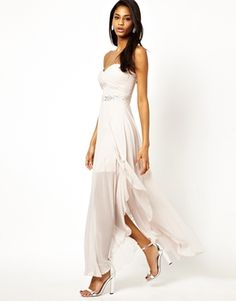 Enlarge Lipsy Embellished Maxi Dress with Knot Front