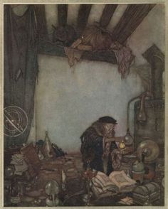 The Wind\'s Tale by Hans Christian Anderson. Artist: Edmund Dulac
