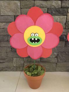 Trolls centerpieces trolls flowers trolls party