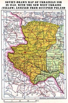Here is a map reflecting that part of #Poland invaded and stole by the #USSR during WWII and given to #Ukraine.
