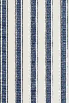 Hall Runner Blue Awning Stripe Woven Cotton Rug | Dash & Albert Rug Company