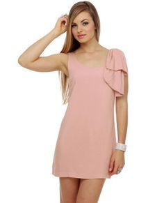 Lovely Pink Dress - Light Pink Dress - Dusty Pink Dress from Lulu*s. Saved to Dresses. Dusty Pink Dresses, Latest Fashion Dresses, Online Dress Shopping, Dress With Bow, Playing Dress Up, Well Dressed, Special Occasion Dresses, Cute Dresses, Amazing Women
