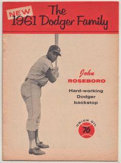 Dodgers Blue Heaven: The John Roseboro 1961 Union Oil Dodger Family Booklet