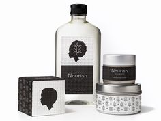 Brand Development and Packaging for Nourish by Kariann