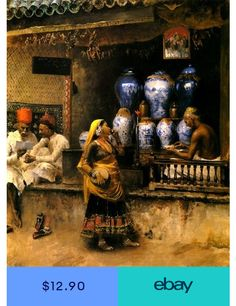 The Vase Seller Edwin Lord Weeks Wholesale Oil Painting China Picture Frame… Canvas Wall Art, Wall Art Prints, Jean Leon, Empire Ottoman, Historical Art, Arabian Nights, Renoir, Matisse, Indian Art