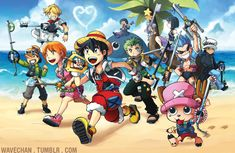Kingdom Hearts X One Piece by suzuran on DeviantArt