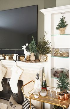 How to Decorate Your Mantel For The Holidays - Inspired by This