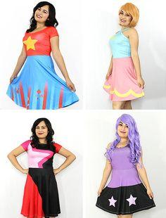 Steven Universe Pearl Inspired Skater Dress by KYOCATclothing