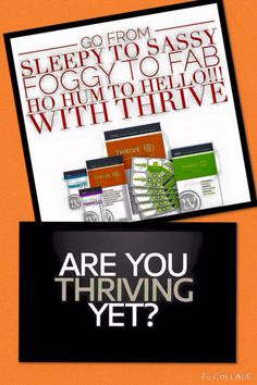 SO ME!!! Want to know more what THRIVE can do for you?   Www.thrivingtolive.le-vel.com