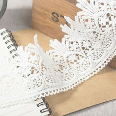 US $1.99 x 10 yards 7.5cm wide # Lace dream shop  [US $1 x 30 y http://dobestcn.en.alibaba.com/product/60130807717-800730454/macrame_lace_fabric_bulk_lace_fabric_guipure_lace_fabric.html; US $1.99 x 10y Rainbow http://www.aliexpress.com/store/product/20yards-lot-1cm-Retro-water-soluble-embroidered-cotton-lace-fabric-for-clothing/1333490_2051047369.html; US$2.21 x 15 yards # Shaoxing Jiajiale]