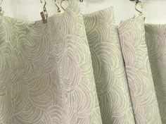Silver grey swirls Curtains Fabric jacquard 122 long by Eleptolis