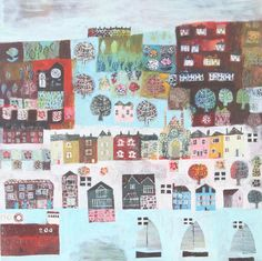 by dawn stacey Angie Lewin, Building Illustration, Boat Art, Christmas Scenes, Coastal Art, Mark Making, Cartography, American, Gallery Wall