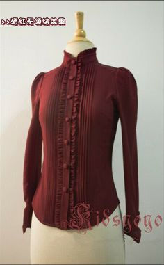 Elegant Ruffles Long Sleeves Chiffon Lolita Blouse #Lolita #Blouse
