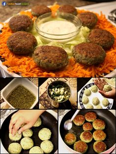 Sprouted moong cutlets recipe (step by step) healthy vegetar Indian Veg Recipes, Organic Recipes, Paneer Recipes, Indian Snacks, Diet Recipes, Vegetarian Recipes, Cooking Recipes, Kitchen Recipes, Healthy Recipes