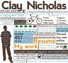 I'm going to make an infographic resume before I start my job search.