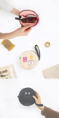 Let the Brunch Brother Round Pouch be your new favorite thing! Diy Tote Bag, Diy Purse, Diy Bags Patterns, Frame Purse, Round Bag, Kids Bags, Small Bags, Handmade Bags, Diy Crafts For Kids
