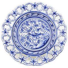 Coimbra Ceramics Hand-painted Hanging Decorative Plate XVII Century Recreation #215