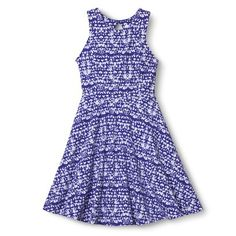 Xhilaration® Junior's Printed Fit & Flare Dress - Assorted Colors (Target)