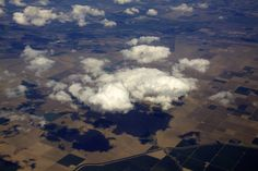 Clouds over farmland