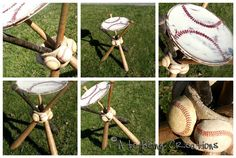 From A to Being: Homemade Christmas #5 Baseball Bat Night Stand