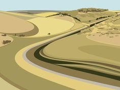 """Yorkshire artist Ian Mitchell produces interesting artwork from his studio. This is Millington Dale Nr Pocklington. Minimal Art, Minimal Photo, Abstract Landscape, Landscape Paintings, Landscape Design, Landscapes, Flat Picture, Texture, Illustrations"