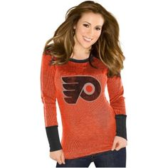 Touch by Alyssa Milano Philadelphia Flyers Ladies Quick Pass Thermal - Flyers