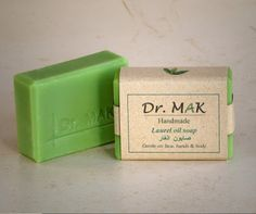 All Natural Laurel Oil Soap. Handmade from pure olive oil and laurel (bay leaf) oil. Rich in natural glycerine, vitamin E and antioxidants. Keeps your skin soft and well nourished all day long.  Gentle on face, hands and body.
