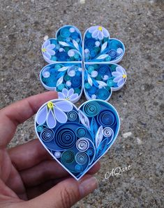 Blue Heart Magnet Quilling Heart-Handmade Magnet-Unique Gift | Etsy 1st Anniversary Gifts, Paper Anniversary, Wedding Anniversary, Love Gifts, Unique Gifts, Handmade Gifts, Paper Quilling For Beginners, Quilling Work, Lotus Art