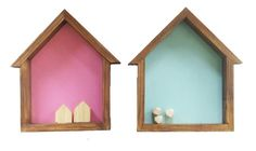 These gorgeous bird house box shelves are a fantastic addition to any home. Perfect for hanging on a wall or sitting on a table / shelf they are a great way to display your treasured items or simply be a feature on their own. Available through www.bespokeartframing.com