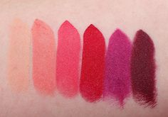 NYX Matte Lipstick Shy, Temptress, Street Cred, Eden, Aria, Siren Review Swatch...like temptress and street cred