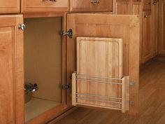Idéia para guardar as tábuas de corte da cozinha.