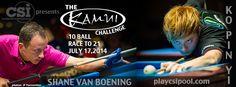CSI Presents the Kamui Challenge Match: SVB vs Ko - http://thepoolscene.com/independent-pool-and-billiards/csi-presents-kamui-challenge-match-svb-vs-ko/