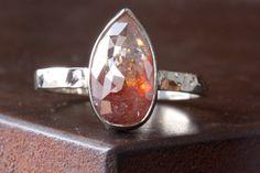 natural rose cut diamond ring #engagement #diamond #alexisrusselljewelry