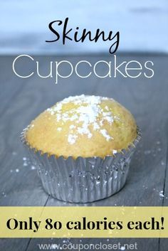 80 Calories Cupcake - The Best Skinny Cupcake Recipe - you just need two ingredients to make this delicious cupcake! (Two Ingredients Cupcakes)