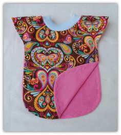 Extra long pullover reversible bib. Perfect for Adalyn's first birthday so she don't get cake all over her dress! And it's super cute too :)